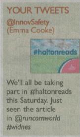 Halton reads tweet published