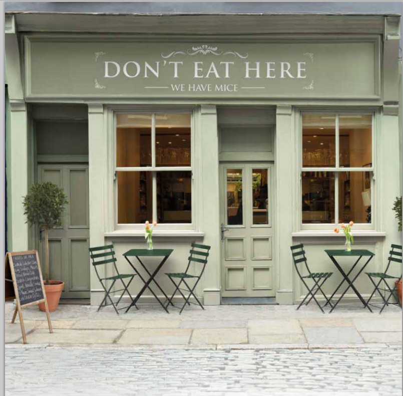 Posh Restaurant. Don't eat here - we have mice