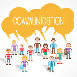 Lots of people all saying Communication