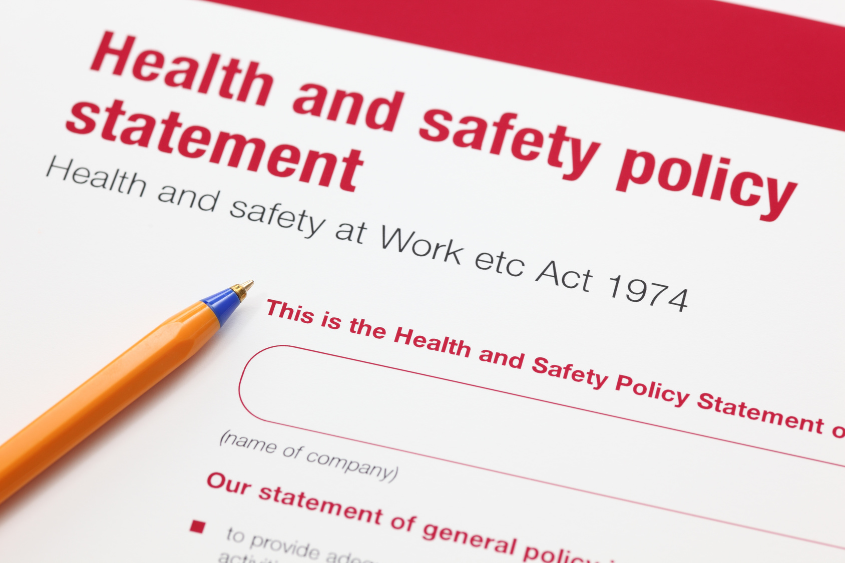 Easy peasy safety stuff no 2 safety policy amazing for Health and safety statement of intent template