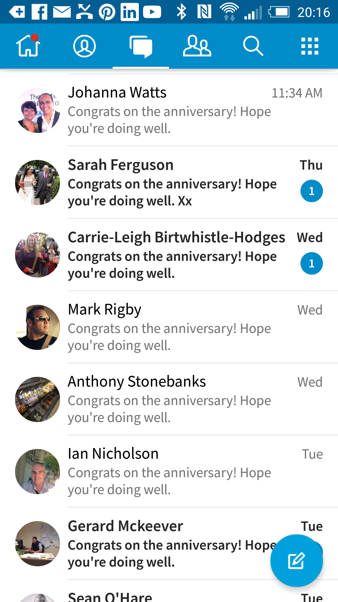 LinkedIn Congratulations Messages